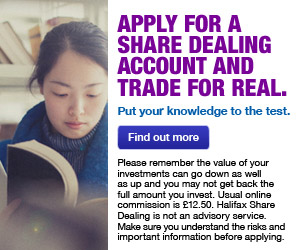Apply for a Share dealing account and Trade for Real